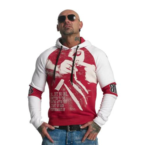 snorting bianco Ribbon Two rosso Red 11006 Hoodie Hob Face Mens Yakuza 8OnwRUqpO