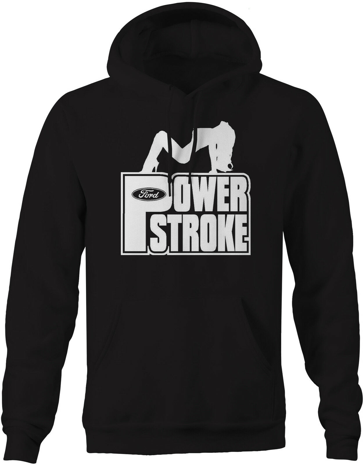 Sweatshirt -Powerstroke Diesel Sexy Girl Pose Ford F-Series