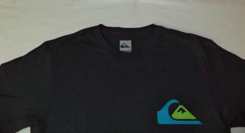 NWT Quiksilver Short Sleeve Black Regular Fit T-Shirt      Small      F91