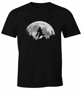 Herren-T-Shirt-Werwolf-Wolf-Mond-Fun-Shirt-Outdoor-Adventure-Moonworks
