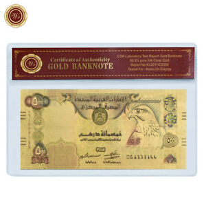 WR-United-Arab-Emirates-500-Dirhams-Color-Gold-Banknote-Collector-Gift-In-Sleeve