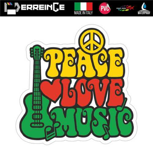 Sticker PEACE Adhesive Decal Vynil Scooter Wall Window Mural Auto Moto Music