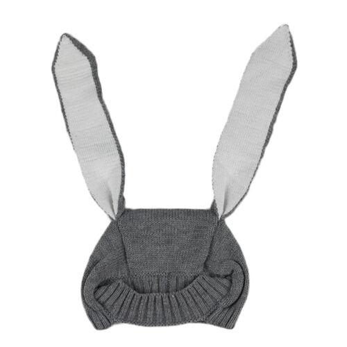 Kinder Wintermütze Strickmütze Strick Warm Kappe Hut Mützen Baby Kaninchenohren