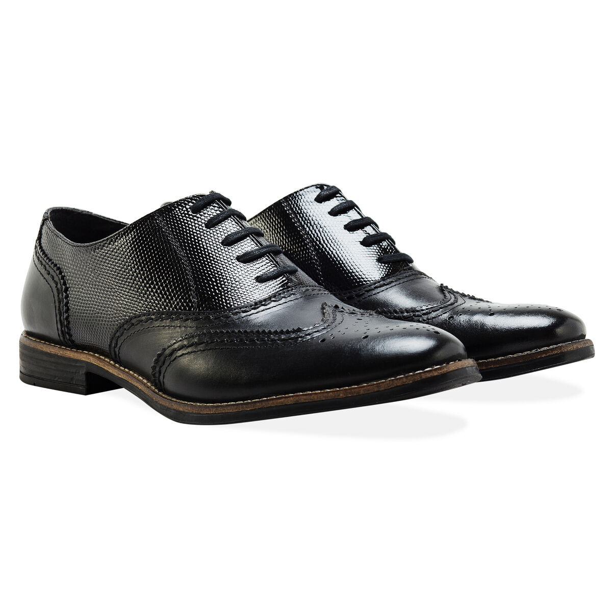 Redfoot Embossed Oxford Brogue Black Lace Up Mens shoes UK 11 Euro 45