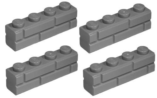 NEW!!! 15533 Lego Dark Bluish Grey Brick 1x4 Masonry 4 pieces