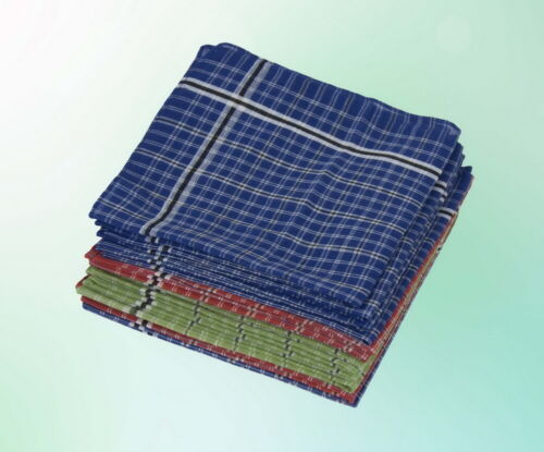 Herren Taschentuch Tuch Tücher 12 Stück Blau Rot Grün 35 35 cm Packung