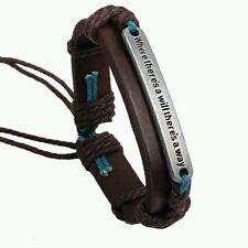 Vintage Antique Leather Bracelet Bangles Peace World Leather Bracelet Unisex