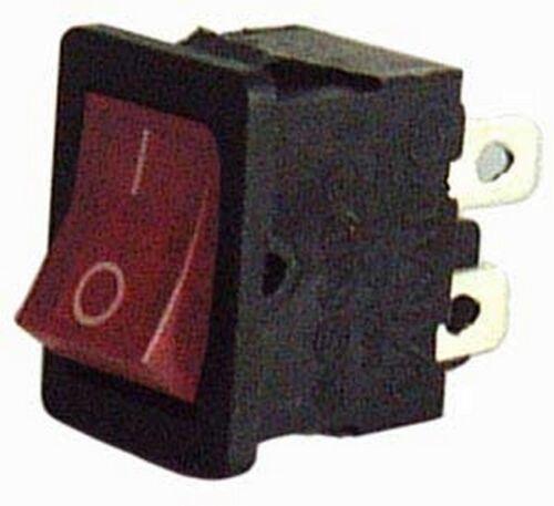 03038175 Interruttore a bilanciere bipolare rosso ON-OFF luminoso, 10A - 250V
