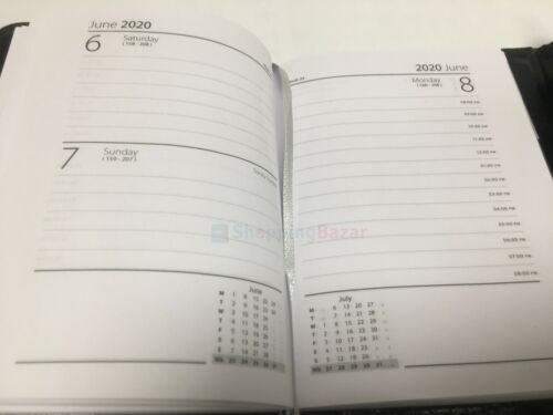 2020 Zebra A5//A6 One Day to Page Appointment Diary Organiser Monthly Index Tab