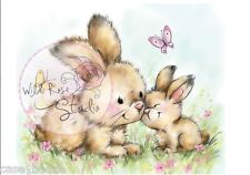 Wild Rose Studio - Clear Rubber Stamps - Spring Bunnies - 451 - New Out
