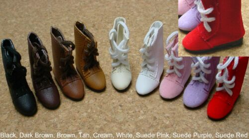 Doll Shoes 37mm BROWN Lace up boots  *Bleuette others