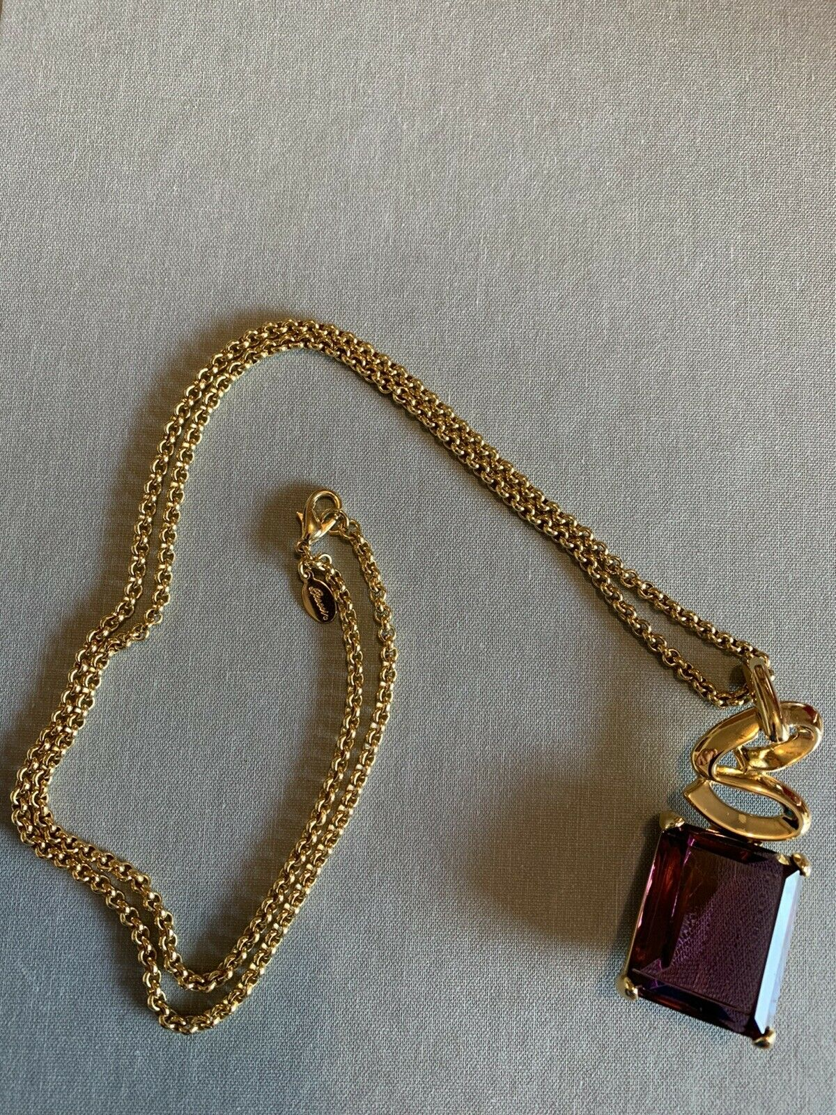 Arnold Scaasi Runway Statement Necklace Amethyst … - image 3