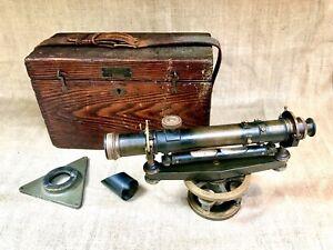 ANTIQUE KEUFFEL & ESSER K&E SURVEY TRANSIT SCOPE LEVEL SER# 43782 1921 w/Box