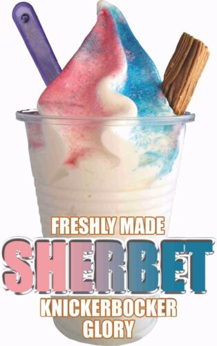 ICE CREAM VAN STICKER MIXED SHERBET KGB SUNDAE CATERING SHOP WITH//WITHOUT FLAKE