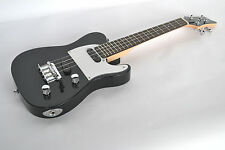 TENOR UKULELE ELECTRIC SOLID BODY STEEL STRINGS TWIN PICKUP TELECASTER GUITAR SH