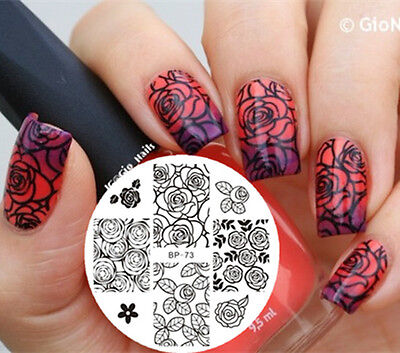 1Pc/5 patterns Nail Art BORN PRETTY Stamp Stamping Template Image Plates #71-75
