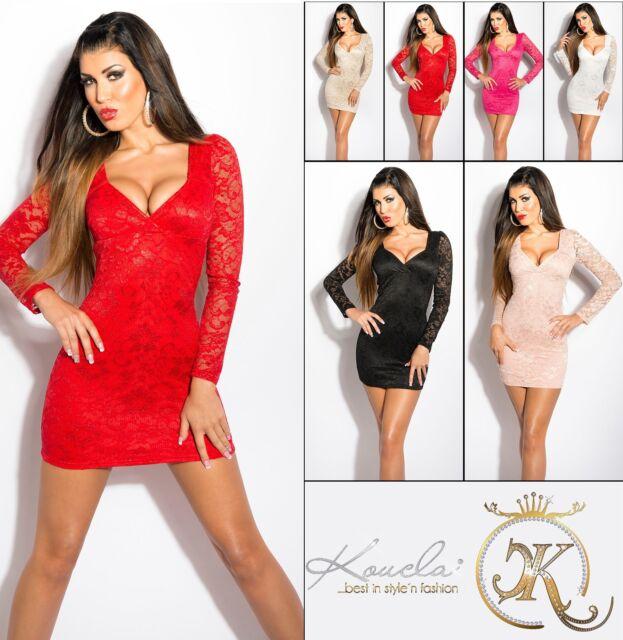 # SEXY Elegant Cocktail KLEID Party MINIKLEID Abendkleid DRESS Spitze #