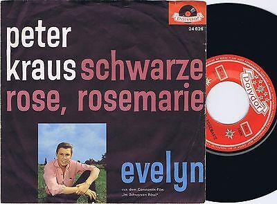 PETER KRAUS Schwarze Rose Rosemarie Danish 45PS 1961