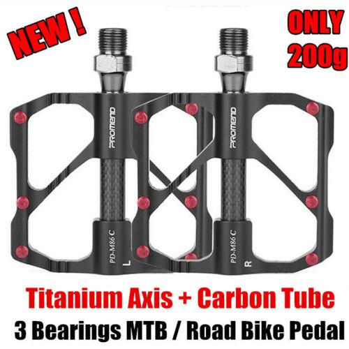 PROMEND Ultralight Carbon Titanium Bicycle Pedal MTB Road Bike Pedal 3 Bearings
