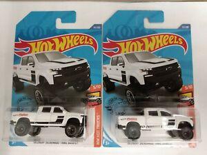 2020 Hot Wheels J Case #151 White 19 Chevy Silverado trail Boss LT