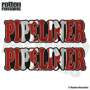 Pipeliner-Canada-Flag-Decal-Sticker-SET-Canadian-Pipeline-Union-Vinyl-EMV
