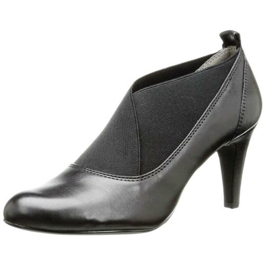 CIRCA JOAN & DAVID  159 BLACK Authentic LEATHER BOOTIES BOOTS HEELS SHOES 11 NWT