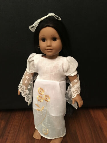 "For 18"" American Girl Doll Clothes Filipiniana Philippines Costume Dress Lot"