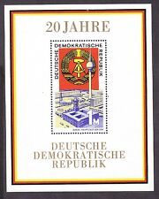 Germany DDR 1141 MNH 1969 20th Anniversary of the DDR Souvenir Sheet VF