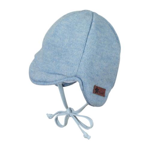 Sterntaler Baby Jungen Wintermütze Gr 35-45 Schirmmütze mit Plüschfellfutter