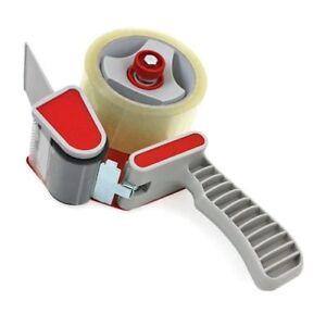 4-ROLLS-OF-CLEAR-PACKAGING-TAPE-48MM-X-66M-1-TAPE-GUN-DISPENSER-CARTON-SEALING