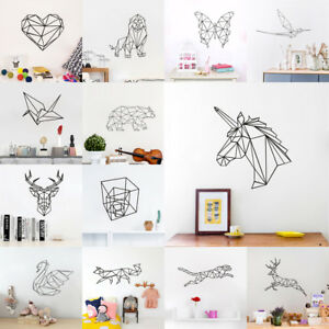 Image Is Loading Geometric Animal Series Unicorn Kids Room Wall Sticker