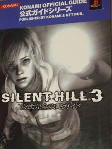 Memoria perdida Silent Hill 3 Guía & Chronicle libro Konami Arte Historia criaturas PS 2