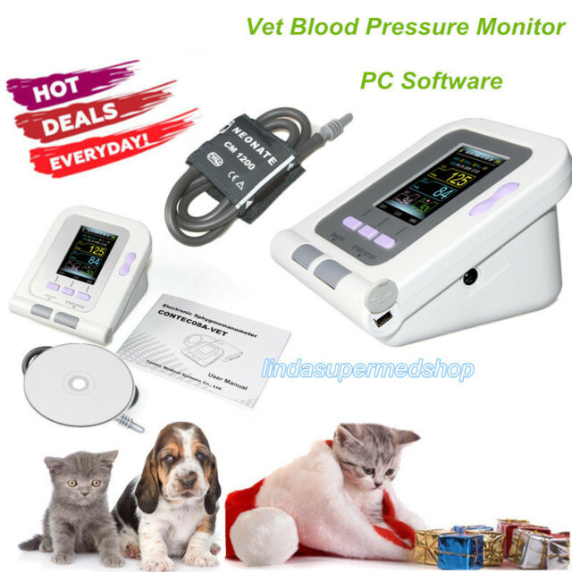 Digital VET Veterinary Blood Pressure Monitor+BP Cuff For Dog/Cat/Pets,Software