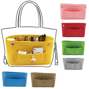 a798612e315ce Das Bild wird geladen 1X-Damen-Handtasche-Organizer-Reise-Tasche-Geldboerse- Filz-