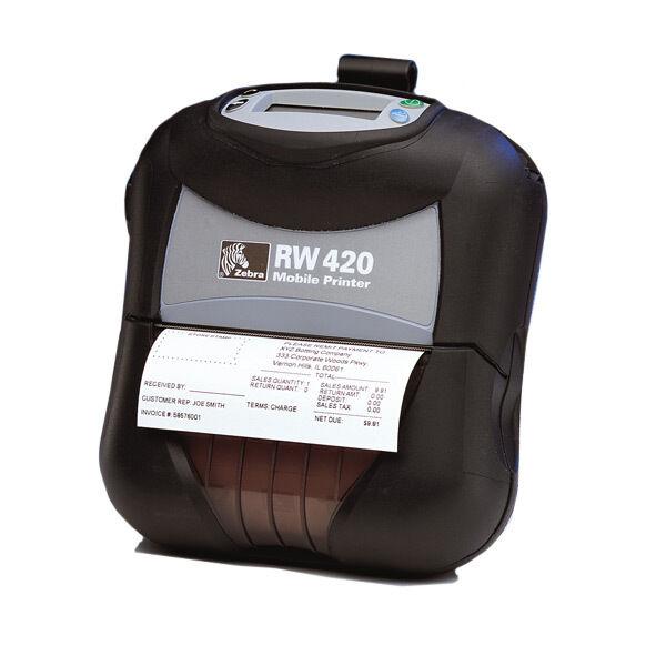 "Zebra RW 420 RW420 R4D-0UBA000N-00 Mobile Thermal 4"" Printer BLUETOOTH USB"