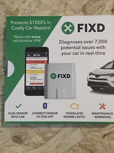 NEW FIXD OBD2 Vehicle Health Monitor - Dx 7,000+ Car Problems, New  - White
