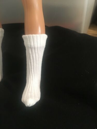White Ken SOCKS MADE TO FIT VINTAGE Or New KEN In Switzerland Doll