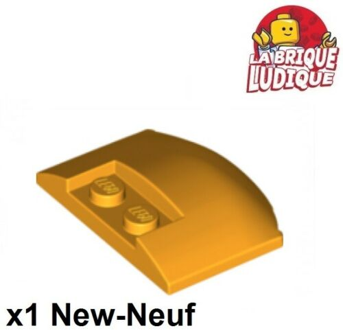 1x Wedge 3x4x2//3 Triple Curved Roof Hood Bright Light Orange 93604 New Lego