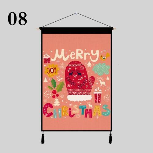 Noël Tapisserie Tenture Mural Toile Image Décoration Salle à Manger Décor Maison