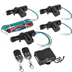 4-Door-Power-Central-Lock-Kit-w-2-Keyless-Entry-Car-Remote-Control-Conversion