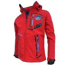 Men's Canadian Peak Softshell Jacket - Hooded Trabendo Red Color Size S BNWOT