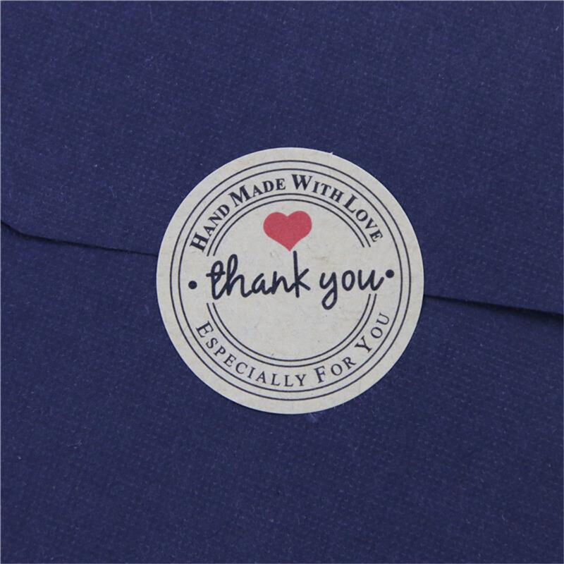 72pcs Thank You Hand Made with Love Especially for You Stickers Label HI