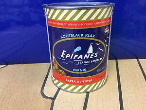 Epifanes Bootslack Mit Extra Uv Filter Ein Holz Klarlack Vernis