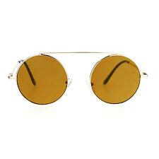 5fe4fbbd36 item 7 SA106 Hippie Flat Top Bridge Color Mirror Round Circle Lens  Sunglasses -SA106 Hippie Flat Top Bridge Color Mirror Round Circle Lens  Sunglasses