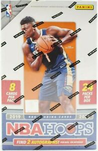 2019-20-Panini-Hoops-NBA-Basketball-card-Hobby-Box-ZION-WILLIAMSON-AUTO-RC-NEW