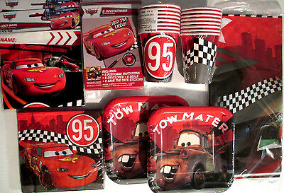 Disney CARS Formula Racer Birthday Party Supply DELUXE Kit w/Invites & Loot Bags