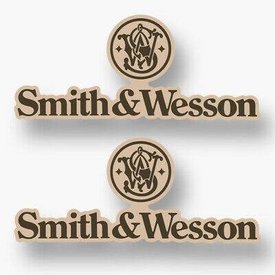 Smith and Wesson Guns Logo Pack of 2 Vinyl Decals