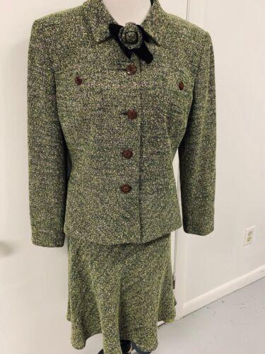 Rickie Freeman For Teri Jon Skirt Suit Size 14 Fol