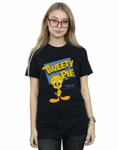 Looney Tunes Women/'s Classic Tweety Pie Boyfriend Fit T-Shirt
