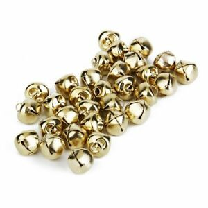 100-PZ-Oro-Jingle-Bells-per-Natale-Decor-Charms-Card-Craft-10mm
